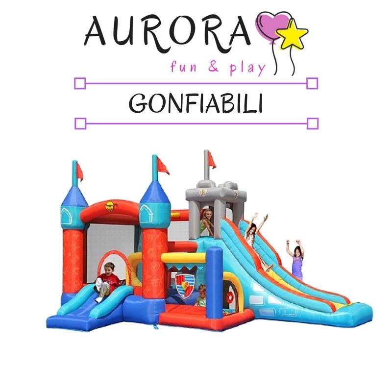vendita online mini gonfiabili leggeri per bambini e per feste private con scivoli e castelli con palline
