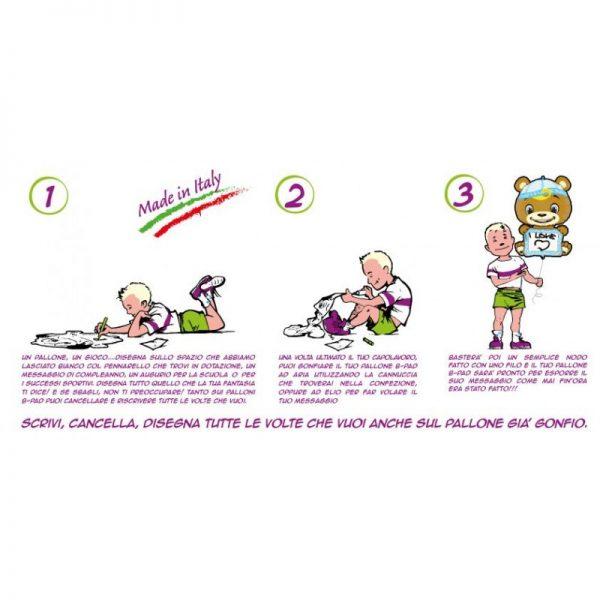 Palloncino-Orsetto-Bimba-Scrivibile-B-Pad-istruzioni