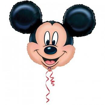 palloncino a forma di testa di Topolino Disney da gonfiare ad aria o a elio