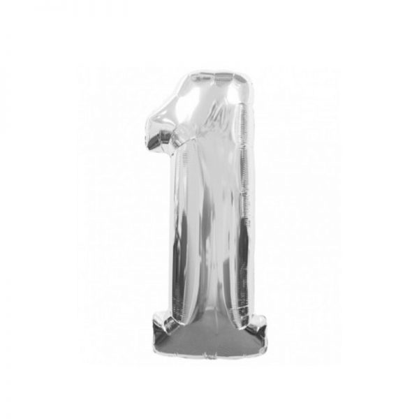 palloncino-numero-1-mylar-1mt-argento