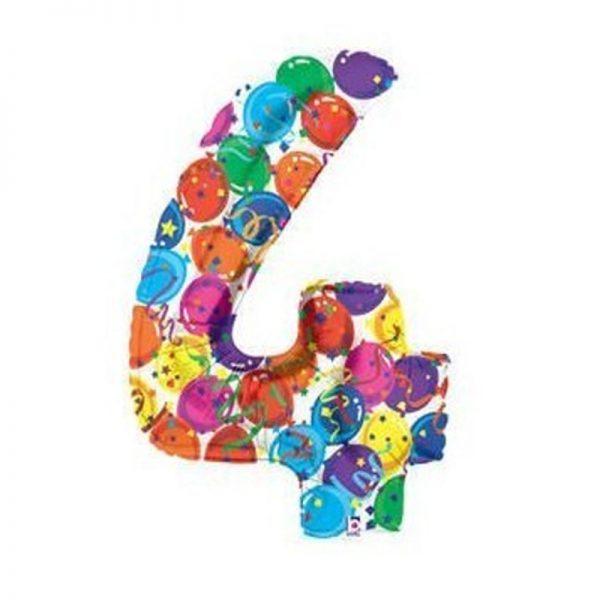 palloncino-numero-4-mylar-1mt-multicolor