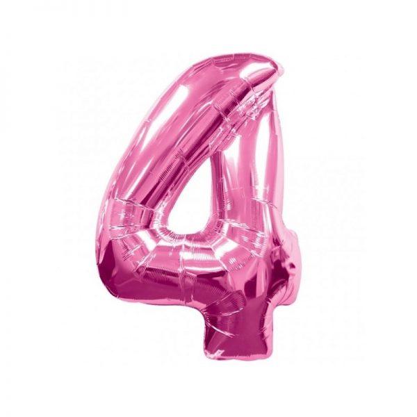 palloncino-numero-4-mylar-1mt-rosa
