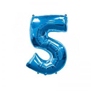 palloncino-numero-5-mylar-1mt-blu