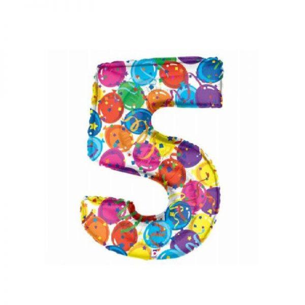 palloncino-numero-5-mylar-1mt-multicolor