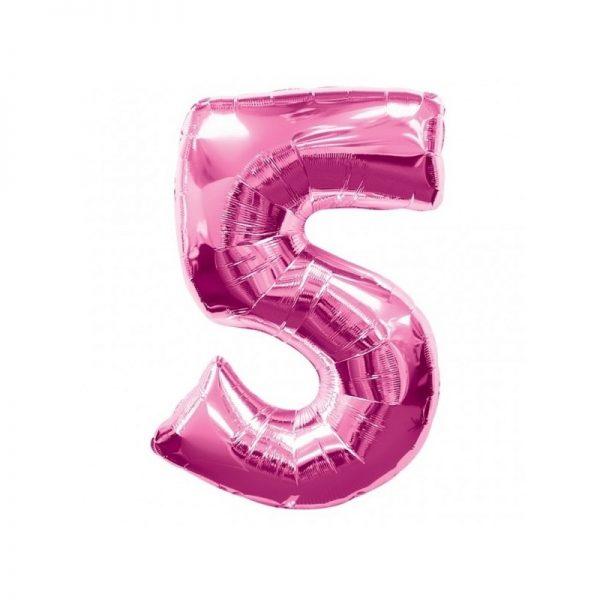 palloncino-numero-5-mylar-1mt-rosa