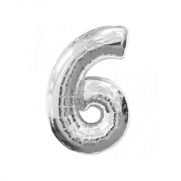 palloncino-numero-6-mylar-1mt-argento