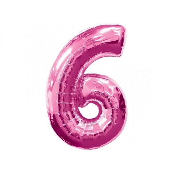 palloncino-numero-6-mylar-1mt-rosa