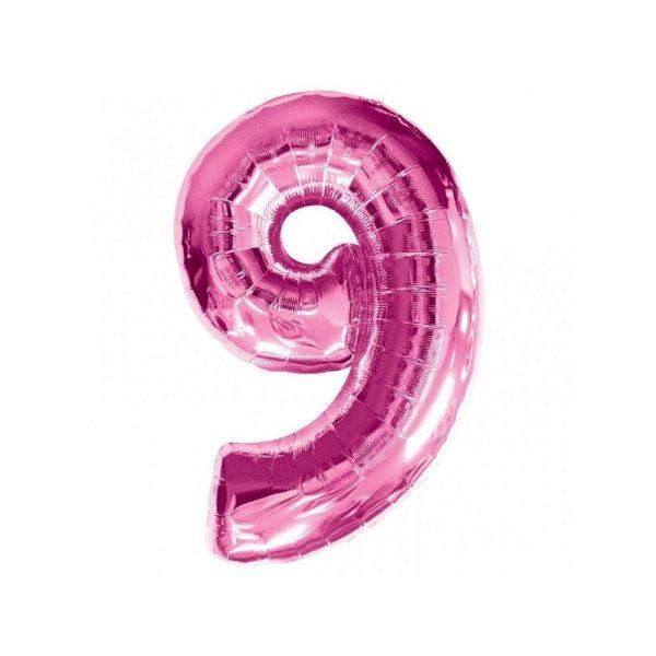 palloncino-numero-9-mylar-1mt-rosa