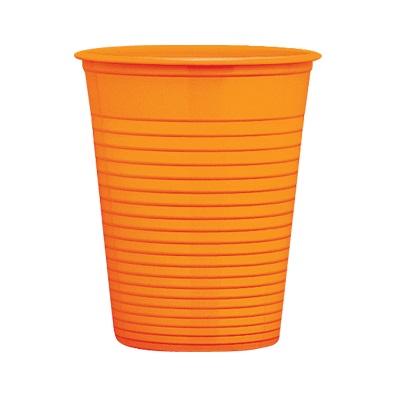 bicchieri-plastica-usa-e-getta-arancio