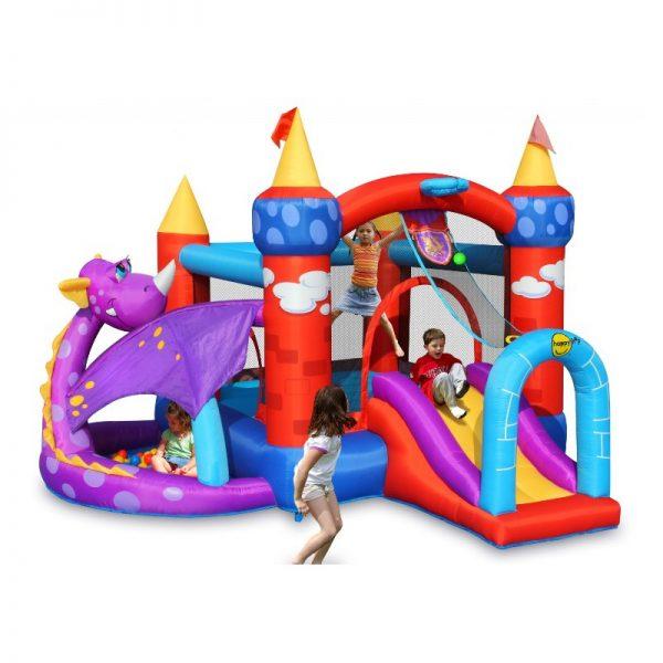 vendita online piccolo castello gonfiabile con scivolo modello draghetto del marchio Happy Hop