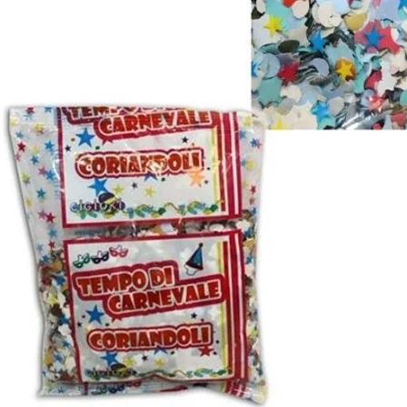 vendita online buste di coriandoli di carta per carnevale multicolor