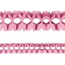 festone ghirlanda di carta colore rosa per allestimento baby shower, nascita bambina, battesimo, primo compleanno bimba