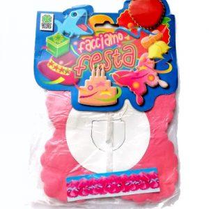 festone ghirlanda di carta rosa per compleanni bambine o feste nascita, battesimo, baby shower