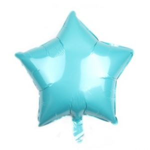 palloncino a forma di stella colore azzurro in mylar foil