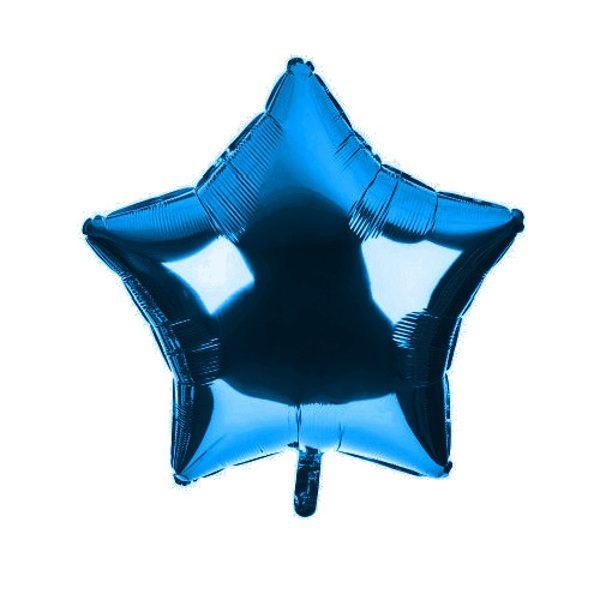 palloncino a forma di stella colore blu in mylar foil