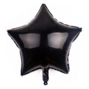 palloncino a forma di stella colore nero in mylar foil