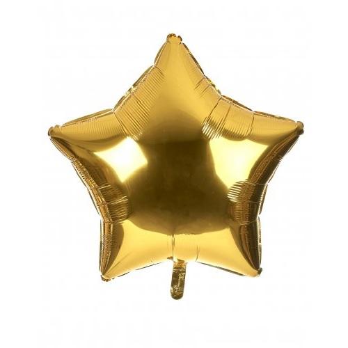 palloncino a forma di stella colore oro in mylar foil