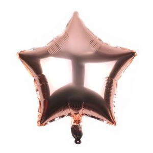 palloncino a forma di stella colore rosa oro in mylar foil