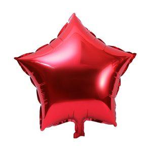 palloncino a forma di stella colore rosso in mylar foil