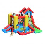 gonfiabile 7 in 1 gonfiabili per bambini in vendita con 7 attività in 1 doppio scivolo e piscina di palline