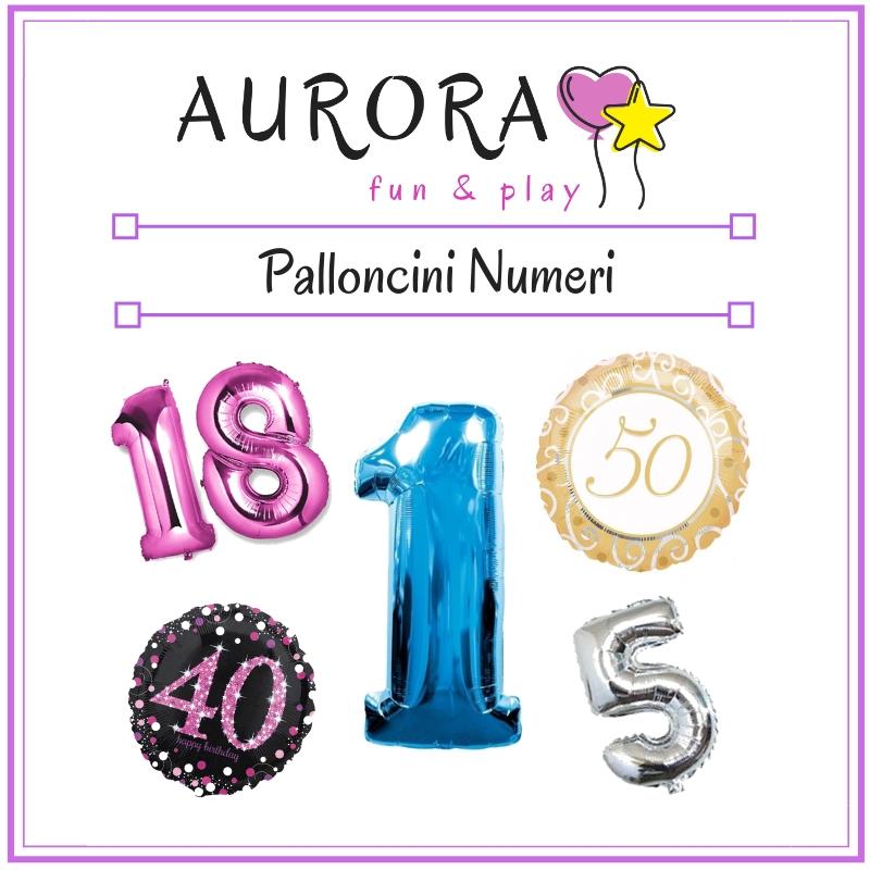 vendita online palloncini in mylar e foil metallizzati a forma di numeri per compleanni e anniversari