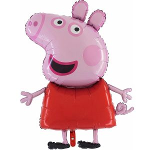 palloncino grande a elio a forma di Peppa Pig per feste di compleanno bambini