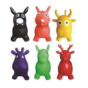 vendita di cavallini di gomma Puppy cavalcabili sfusi in vari colori e tipi di animali a scelta